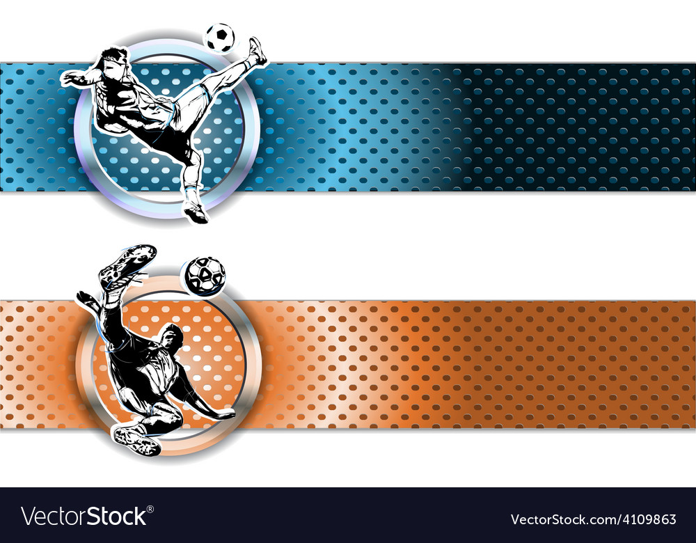 Soocer banners vector | Price: 1 Credit (USD $1)