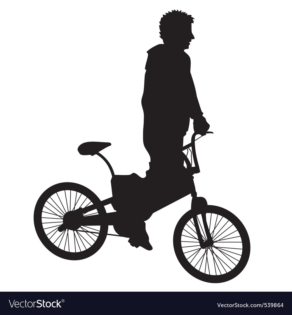 Bicycle rider vector | Price: 1 Credit (USD $1)