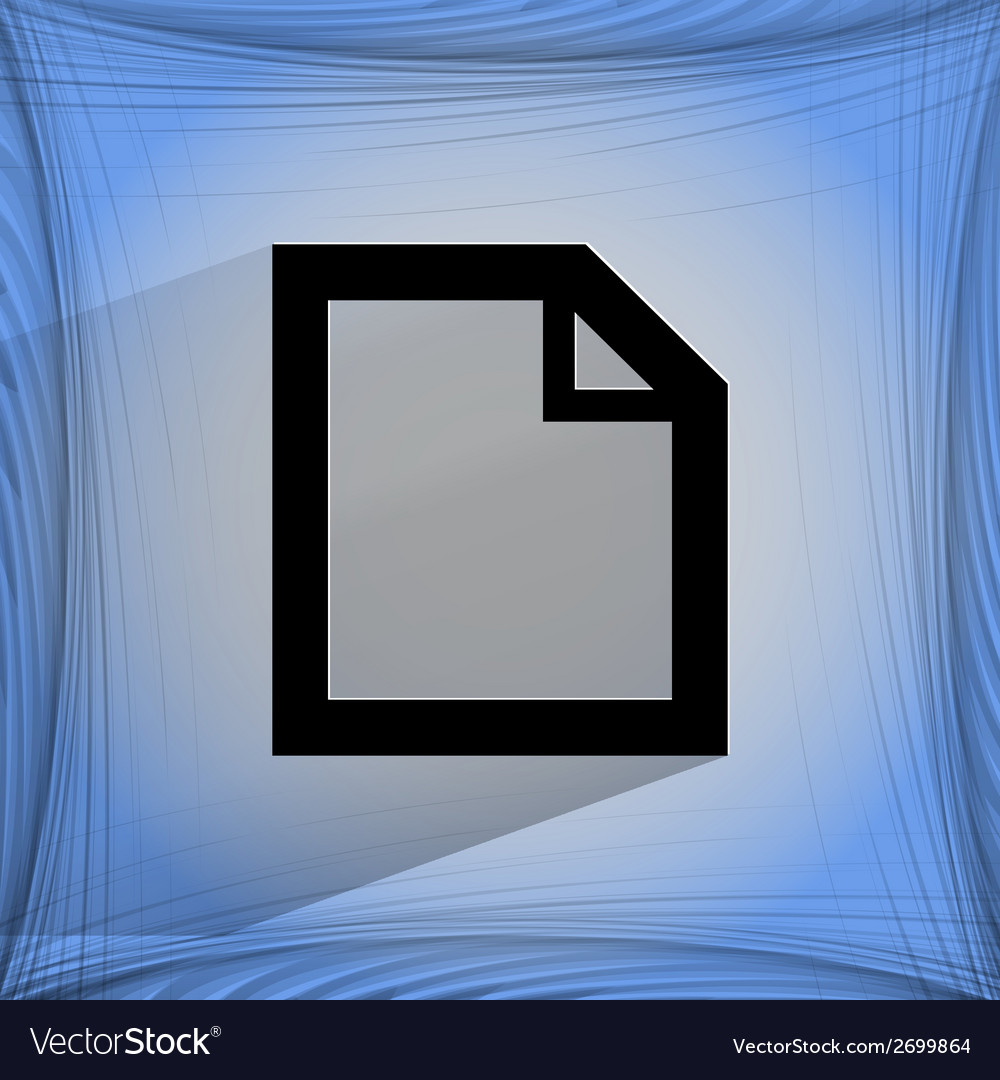 Blank paper flat modern web design on a flat vector | Price: 1 Credit (USD $1)