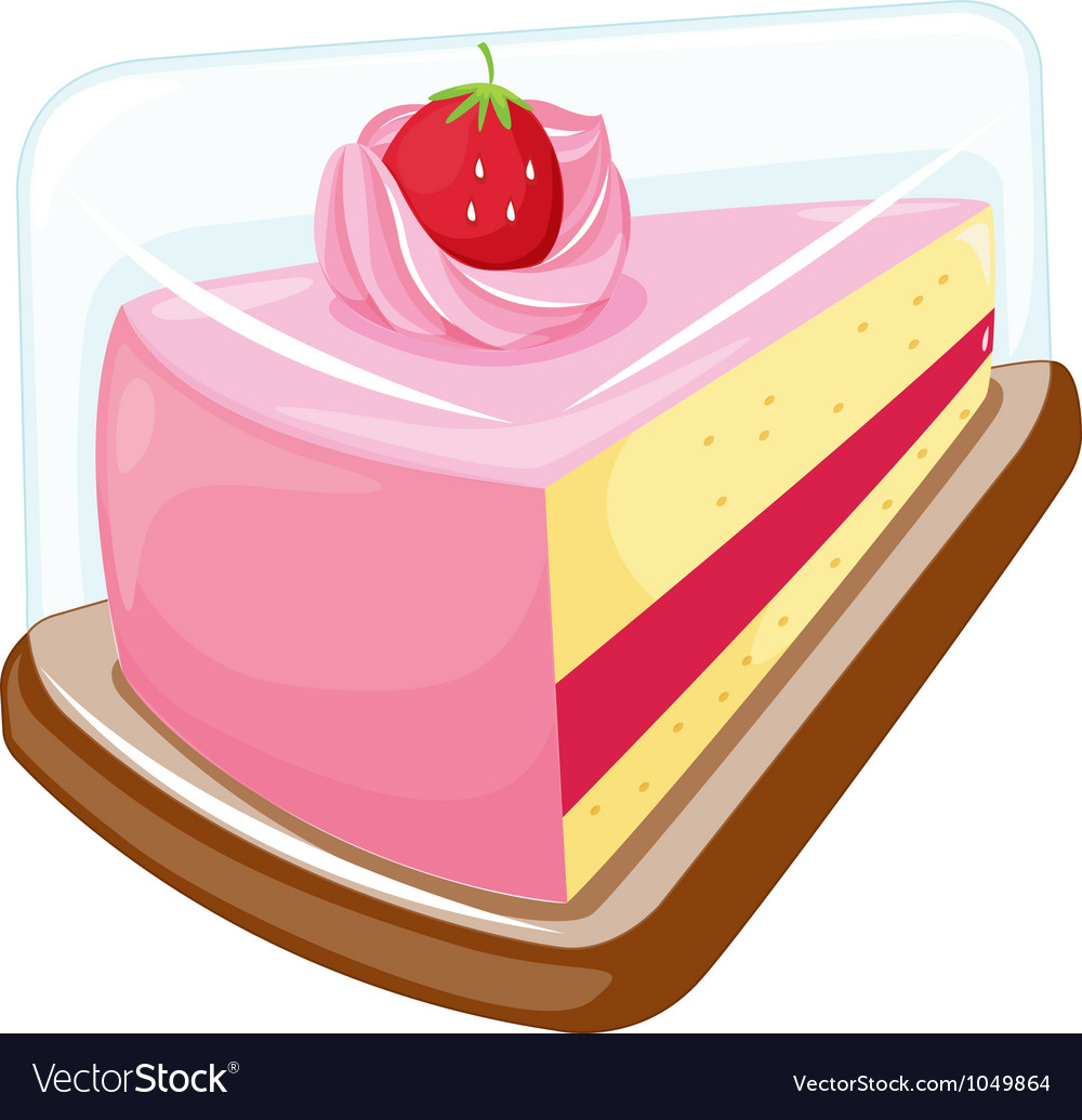 Cake on white vector | Price: 3 Credit (USD $3)
