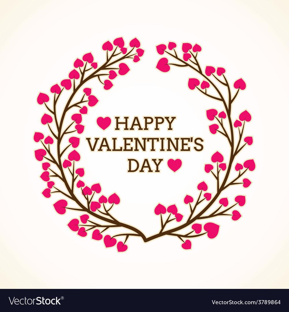 Creative happy valentine day greeting design vector | Price: 1 Credit (USD $1)