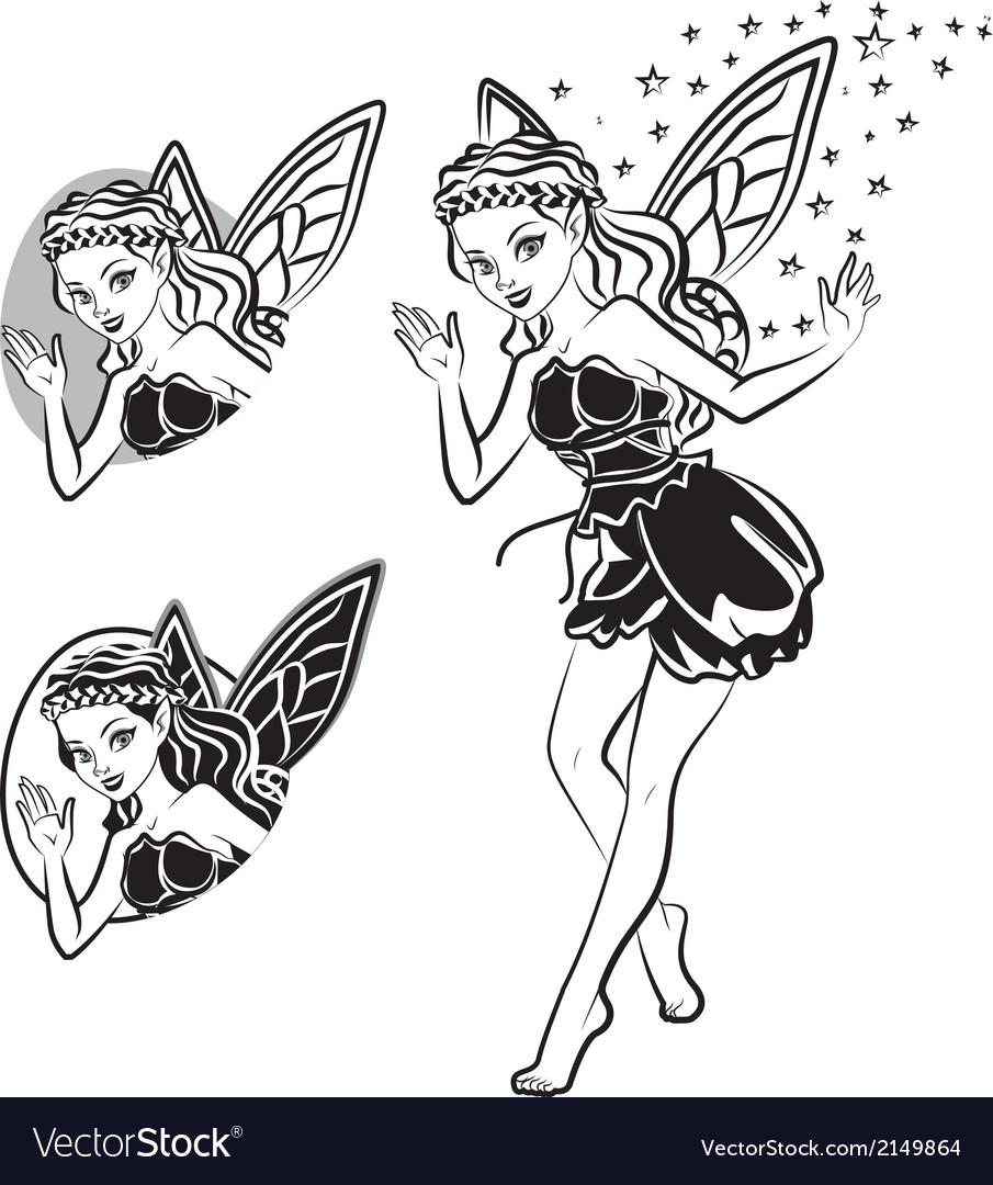 Fairy lines vector | Price: 1 Credit (USD $1)