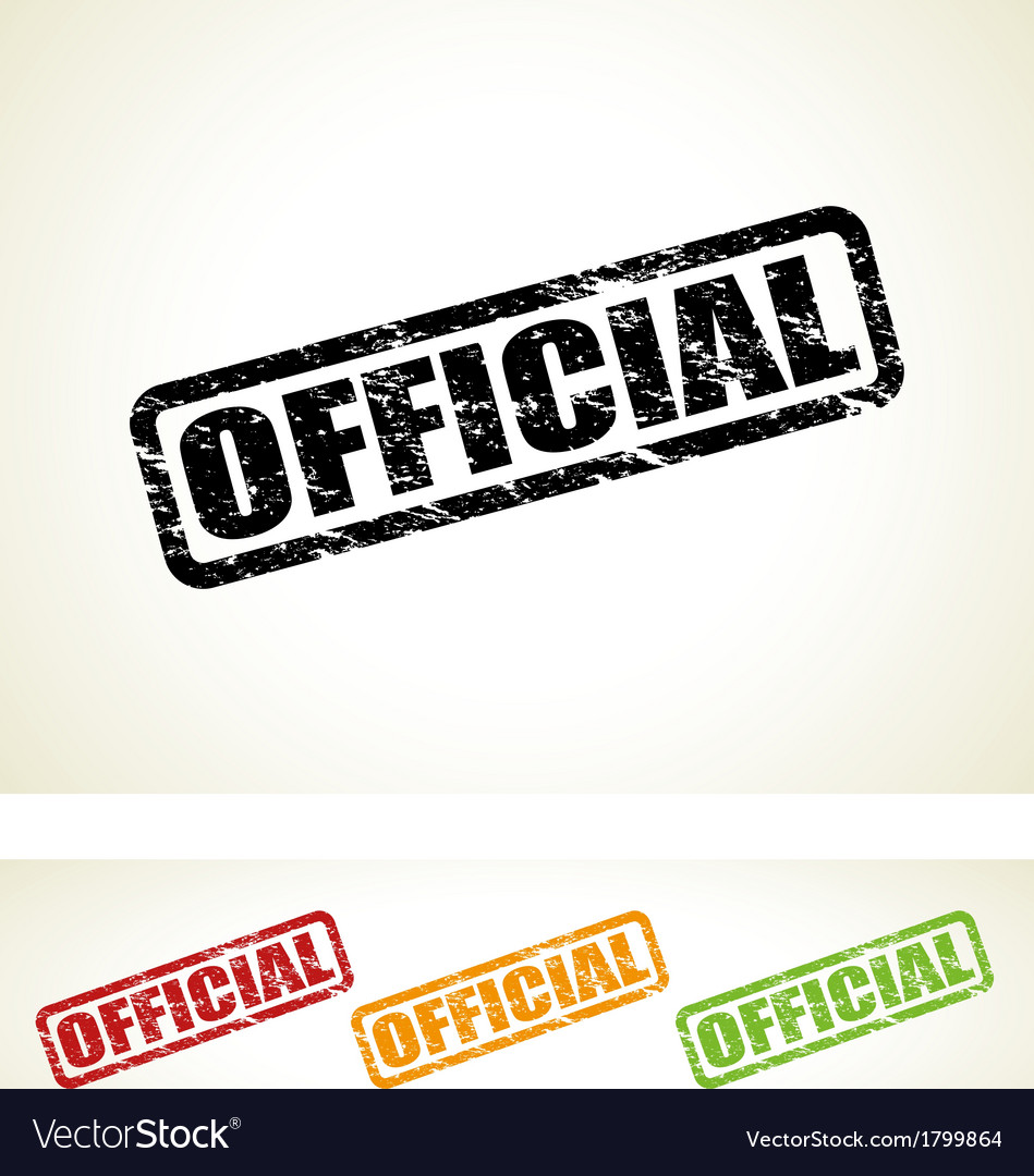 Official stamp vector | Price: 1 Credit (USD $1)