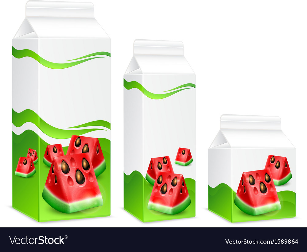 Packing of watermelon juice vector | Price: 1 Credit (USD $1)