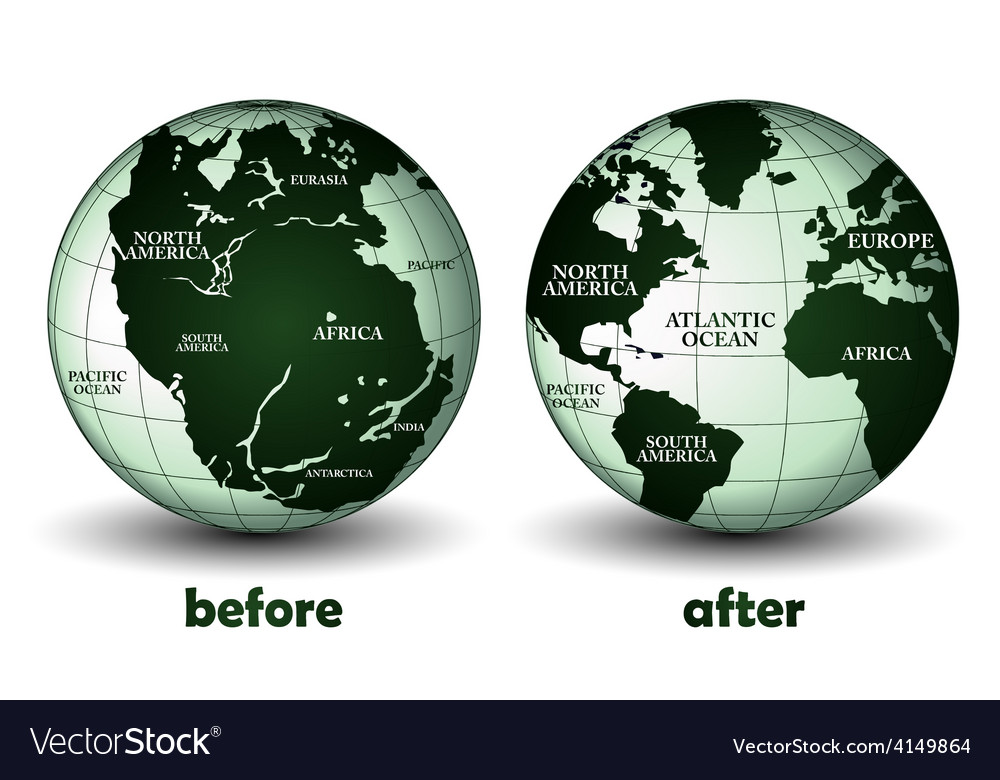 Planet earth before and after vector | Price: 1 Credit (USD $1)