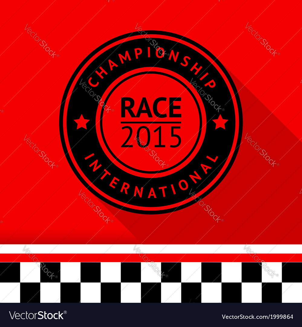 Racing stamp-05 vector | Price: 1 Credit (USD $1)