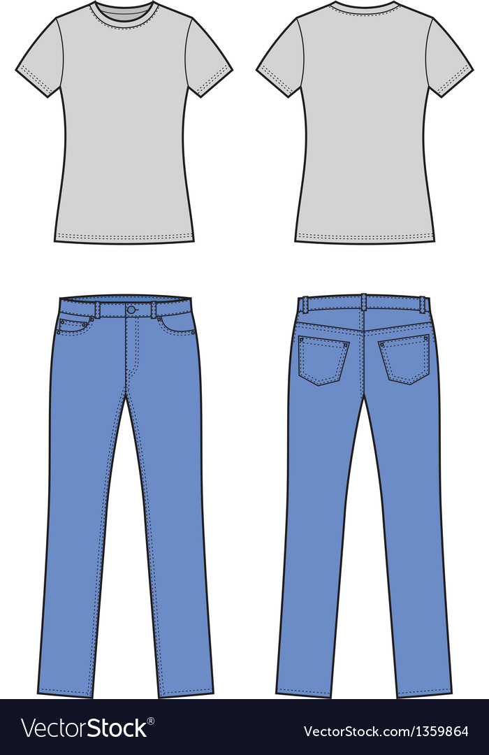 T shirt and jeans vector | Price: 1 Credit (USD $1)