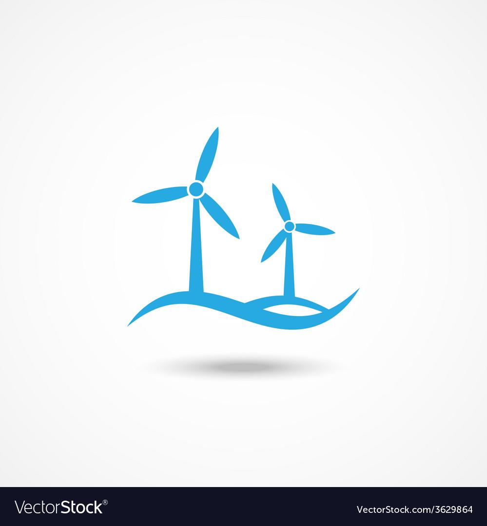 Wind turbine icon vector   Price: 1 Credit (USD $1)