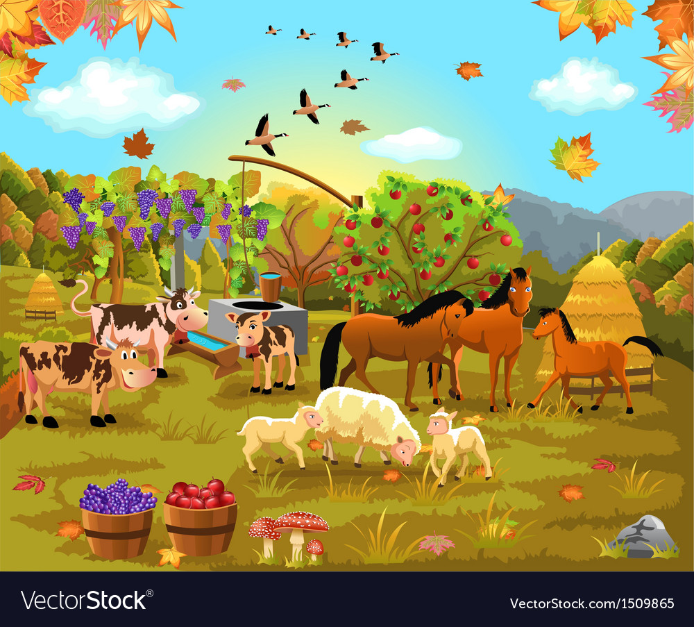 Autumn field vector | Price: 5 Credit (USD $5)