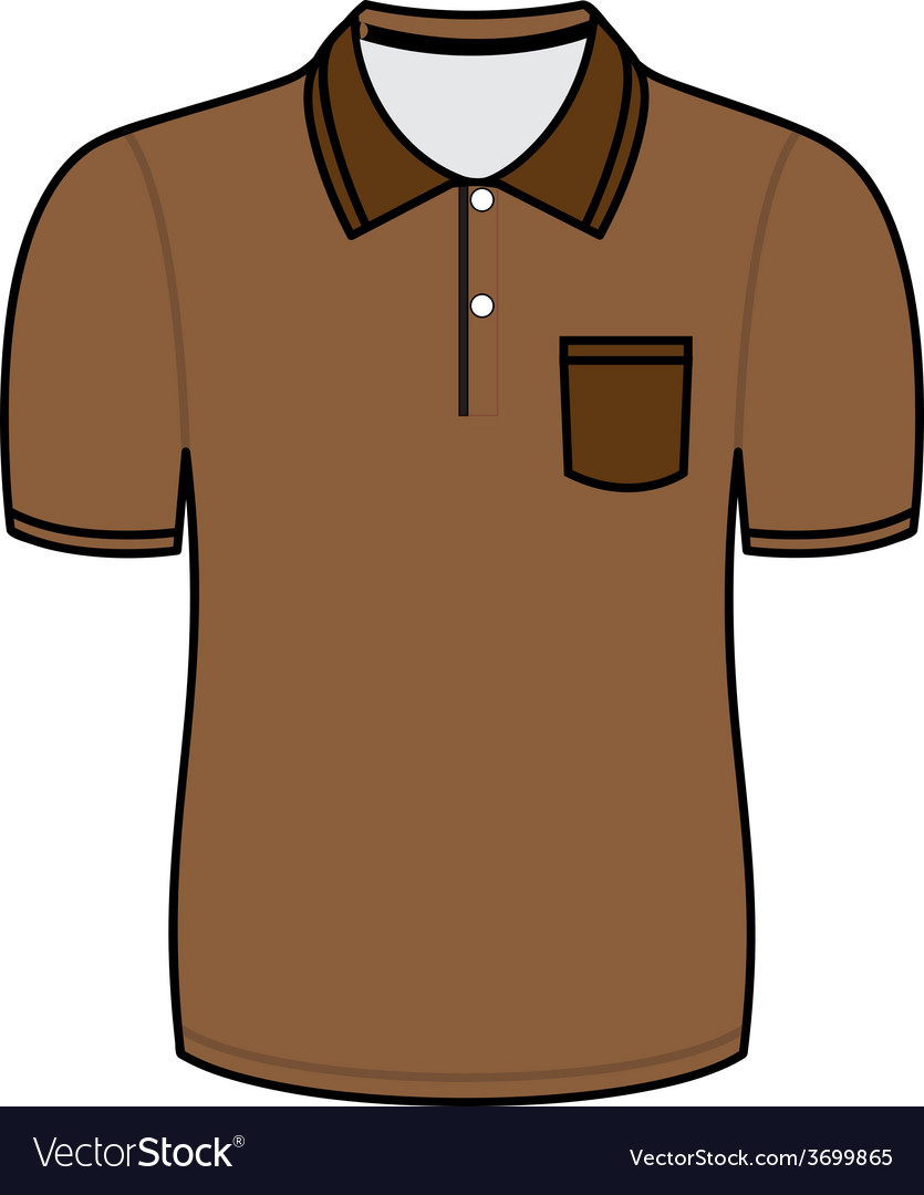 Brown polo shirt outline vector | Price: 1 Credit (USD $1)