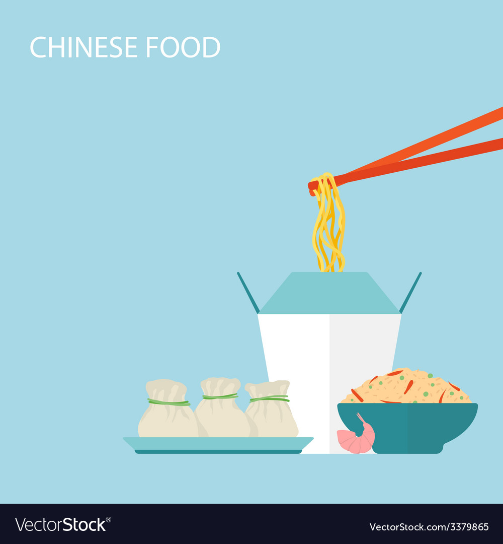 Chinese food background vector   Price: 1 Credit (USD $1)