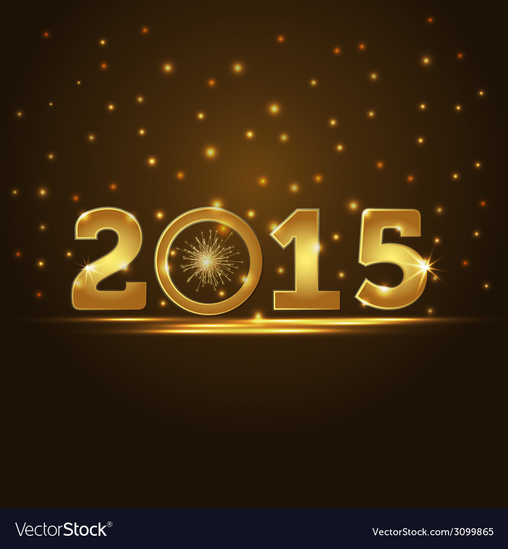 Golden 2015 year card presentation vector | Price: 1 Credit (USD $1)