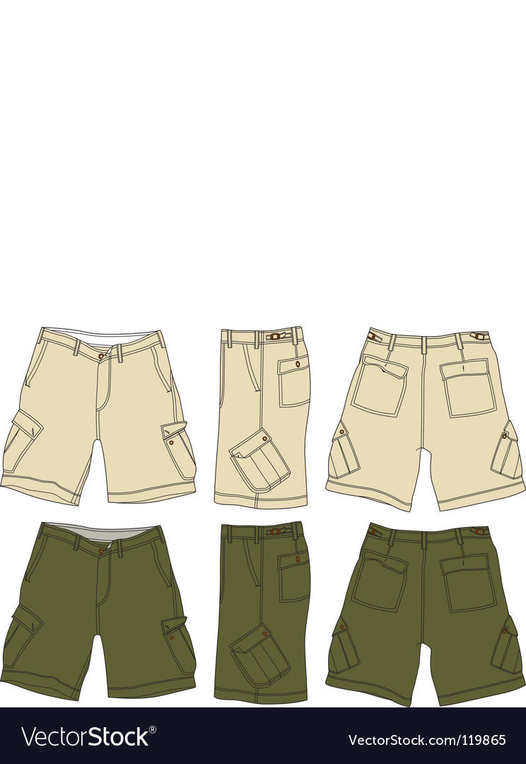 Men cargo shorts vector | Price: 1 Credit (USD $1)