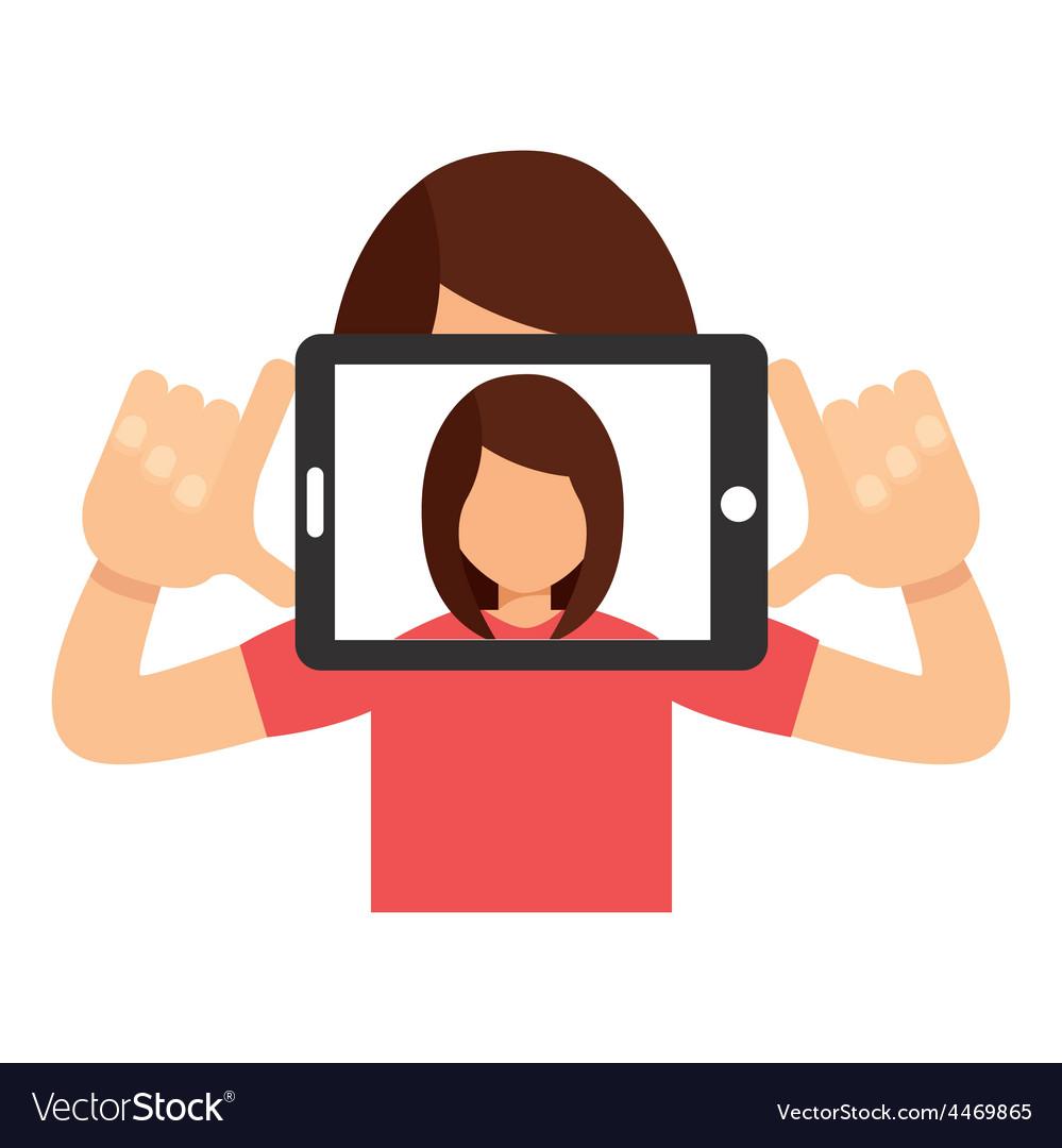 Selfie concept vector | Price: 1 Credit (USD $1)
