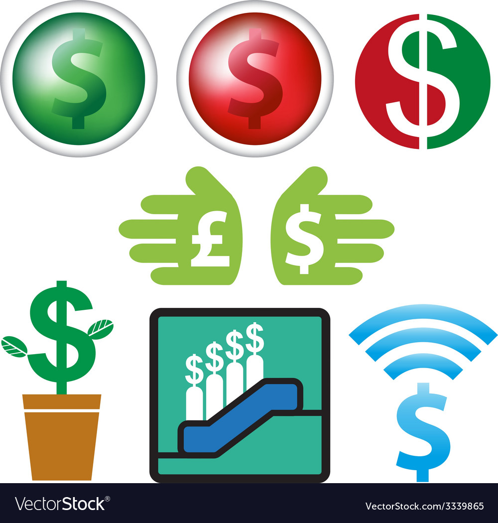 Sign and icon currency business design vector | Price: 1 Credit (USD $1)