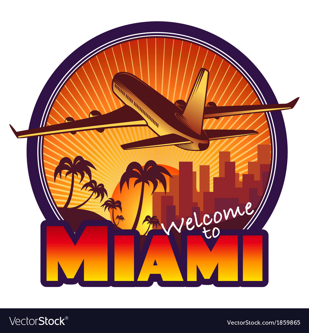 Travel miami vector | Price: 1 Credit (USD $1)