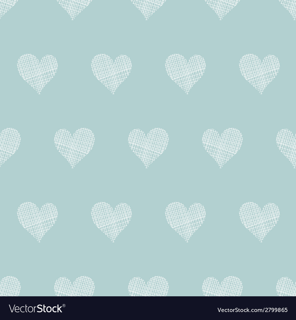 White lace hearts textile texture seamless pattern vector | Price: 1 Credit (USD $1)