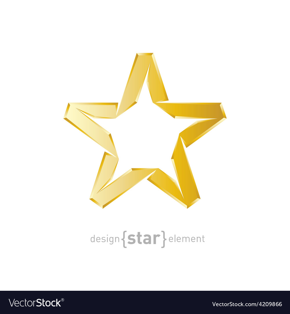Abstract golden star on white background vector | Price: 1 Credit (USD $1)