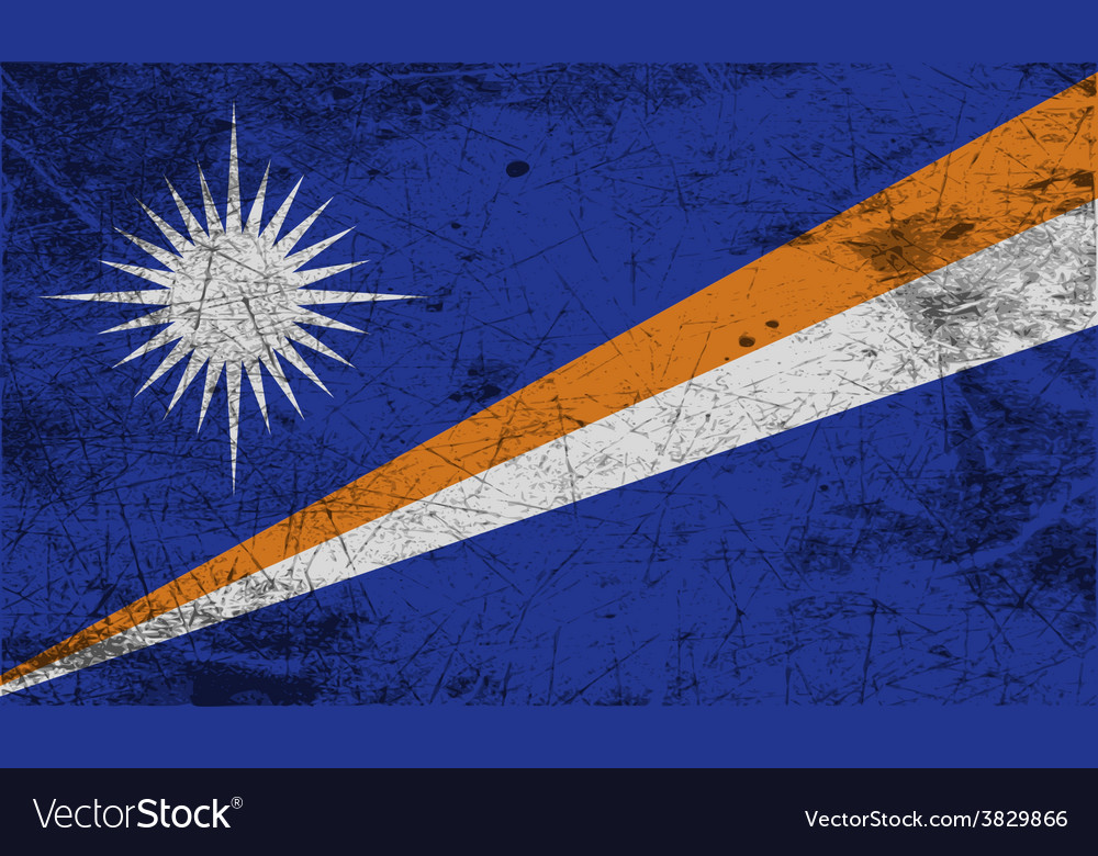 Flag of marshall islands with old texture vector   Price: 1 Credit (USD $1)