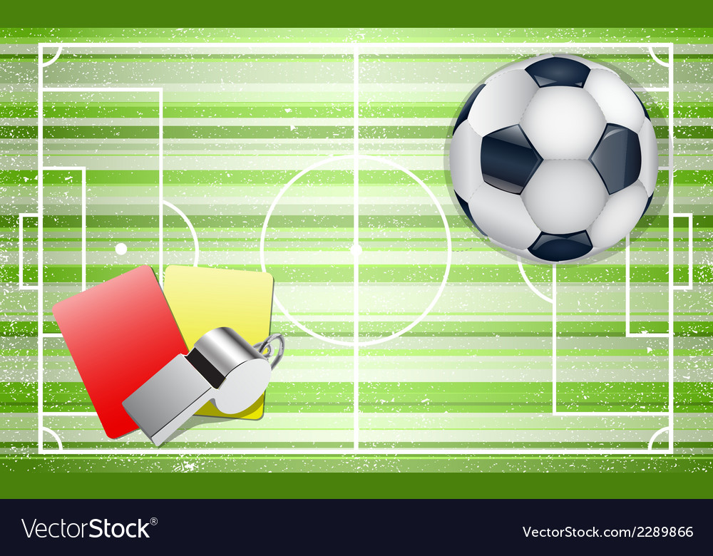 Football field with footballs set vector | Price: 1 Credit (USD $1)