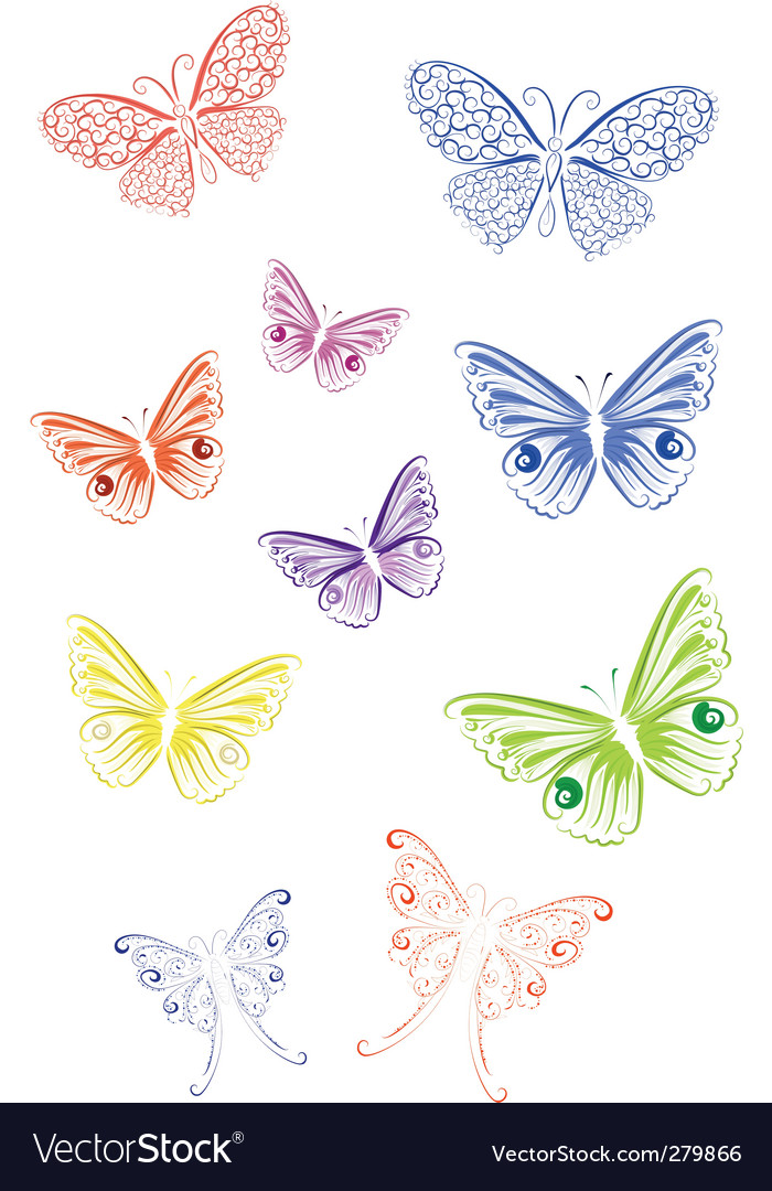 Lace butterfly vector | Price: 1 Credit (USD $1)