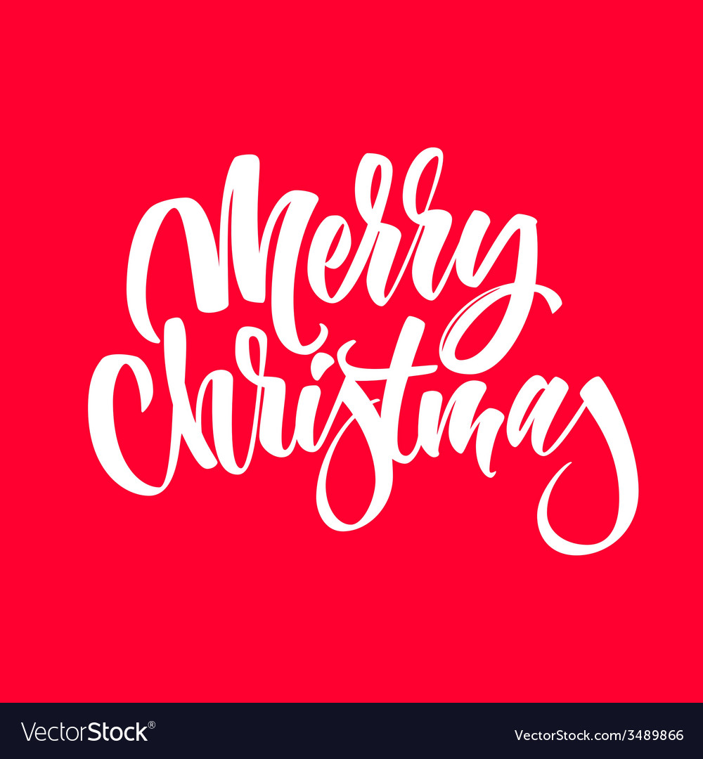 Light abstract merry christmas lettering vector | Price: 1 Credit (USD $1)