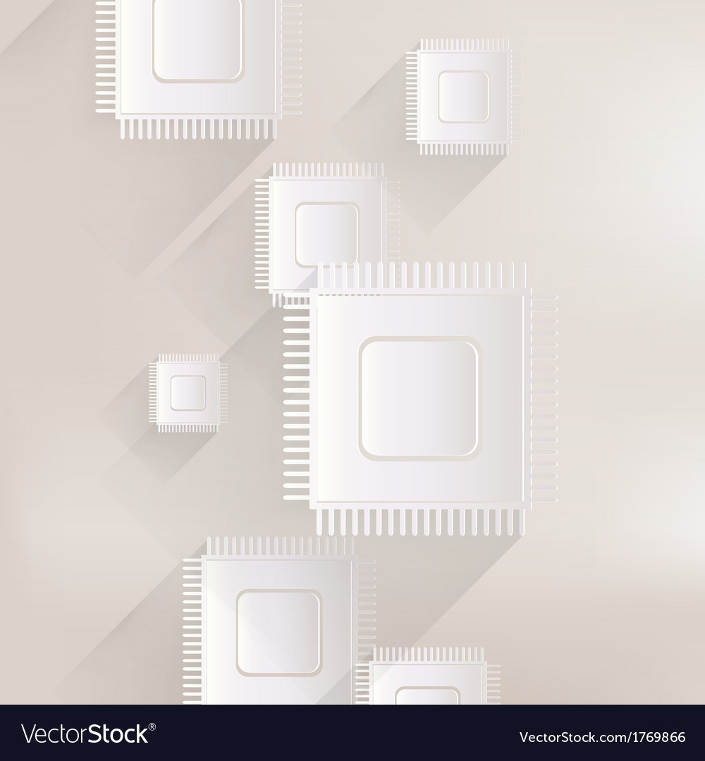 Microchip web icon vector | Price: 1 Credit (USD $1)
