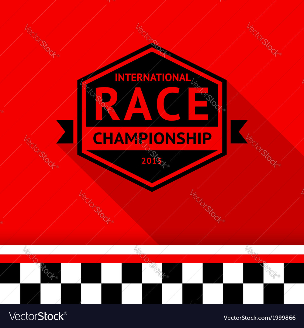 Racing stamp-06 vector | Price: 1 Credit (USD $1)