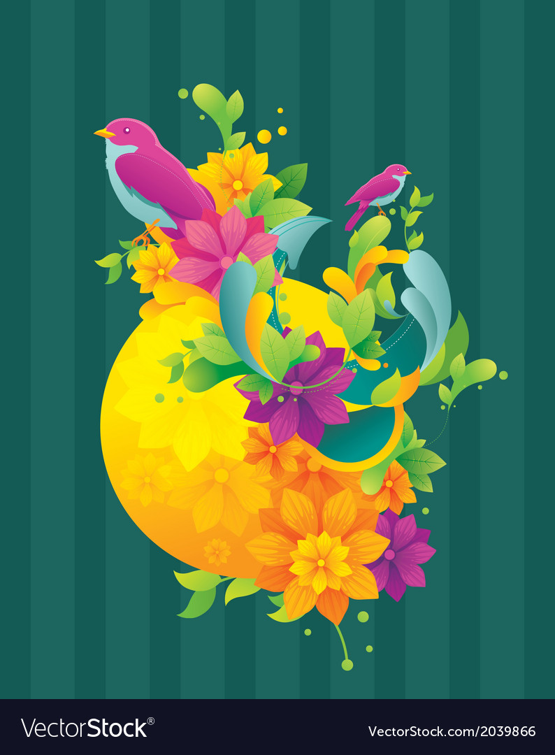 Spring colorful background vector | Price: 3 Credit (USD $3)