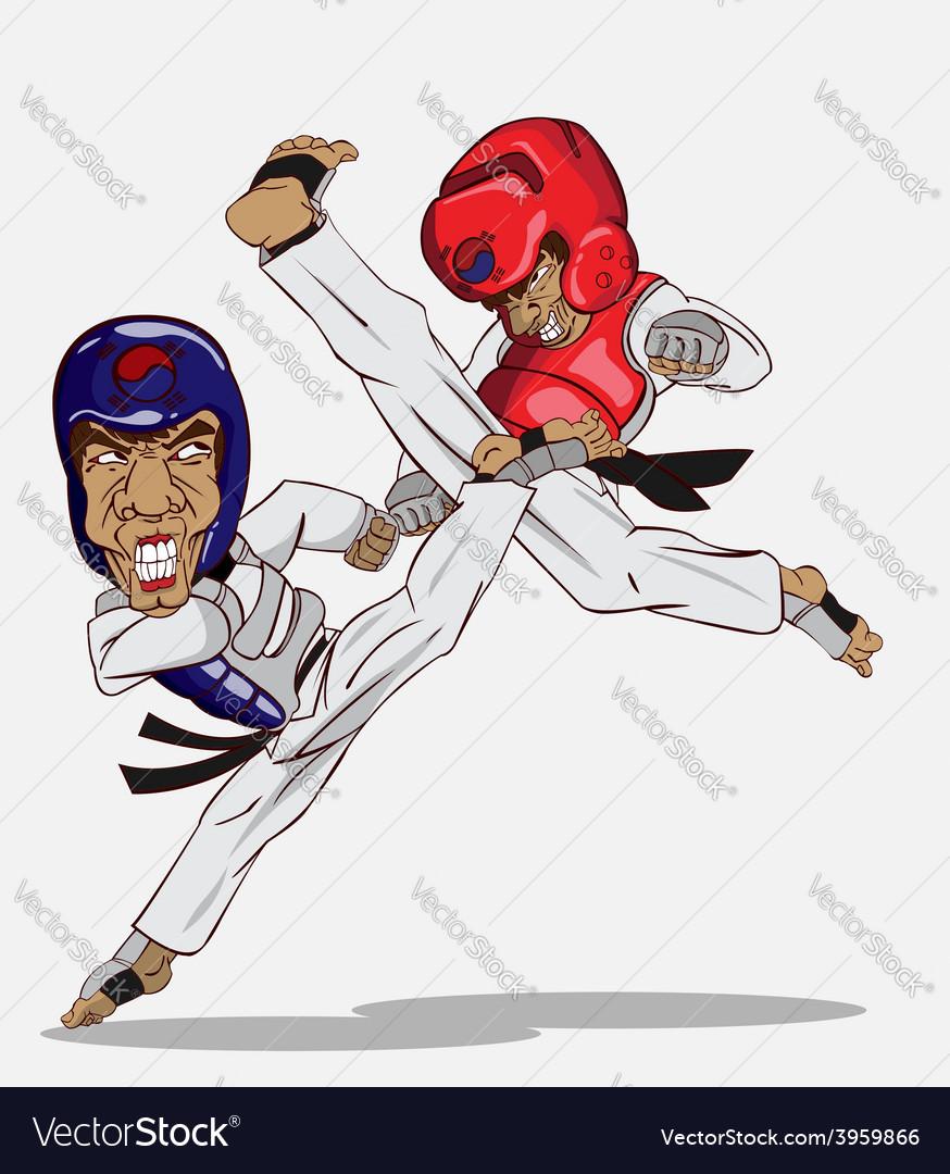 Taekwondo martial art vector | Price: 3 Credit (USD $3)