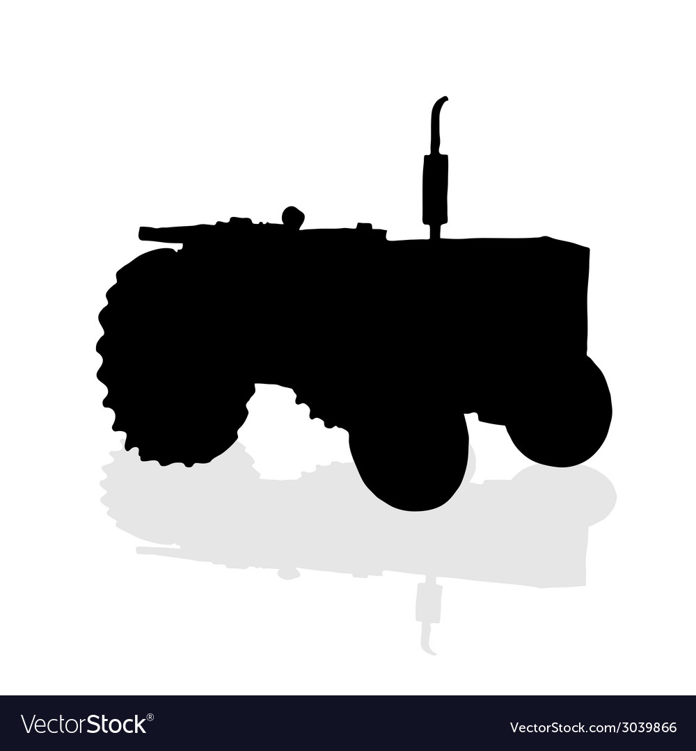 Tractor black silhouette vector | Price: 1 Credit (USD $1)