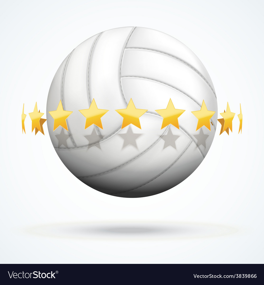Volleyball ball with golden vector | Price: 1 Credit (USD $1)