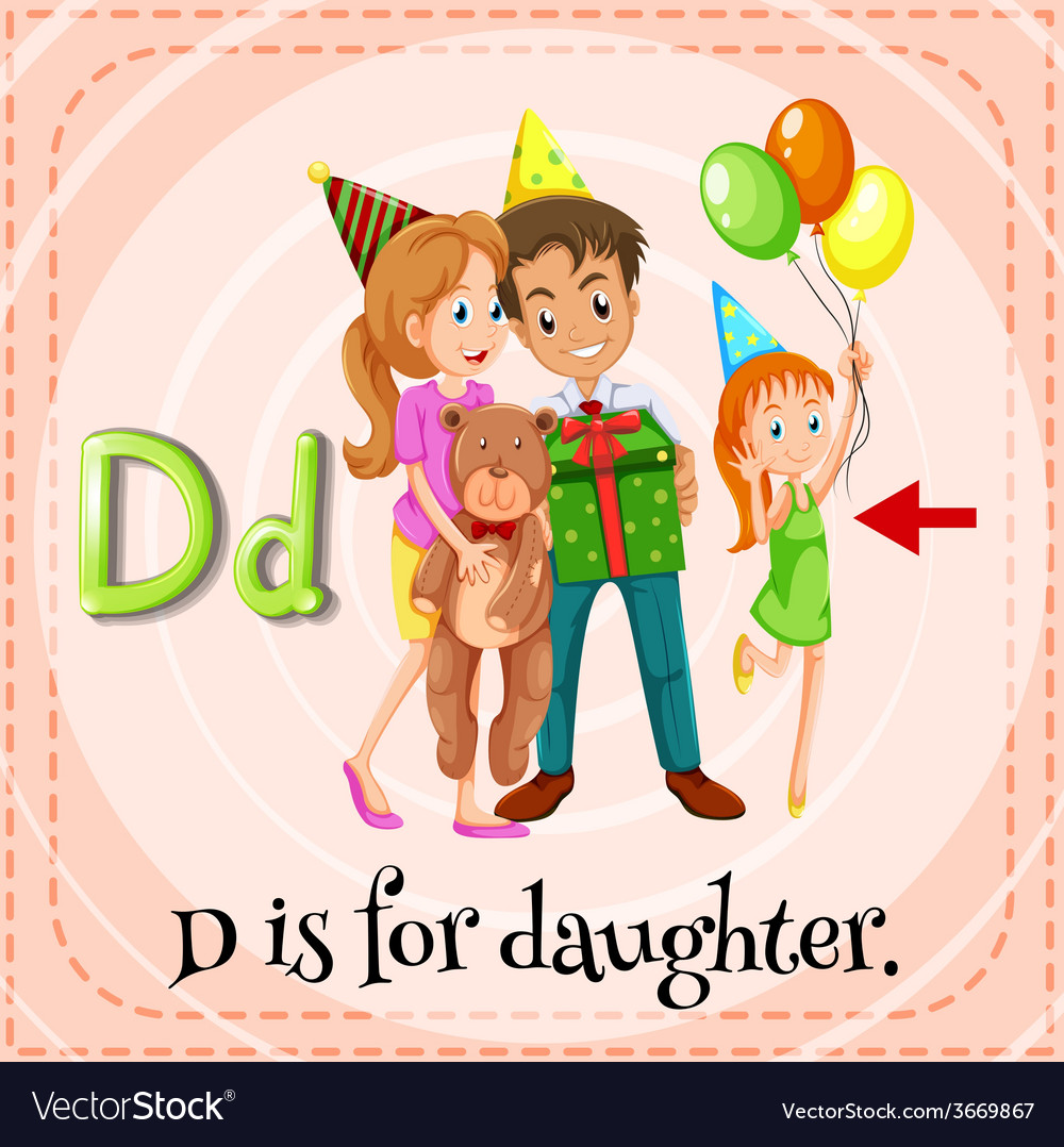 A letter d for daughter vector   Price: 1 Credit (USD $1)