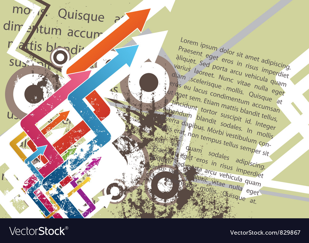 Abstract grunge poster design vector