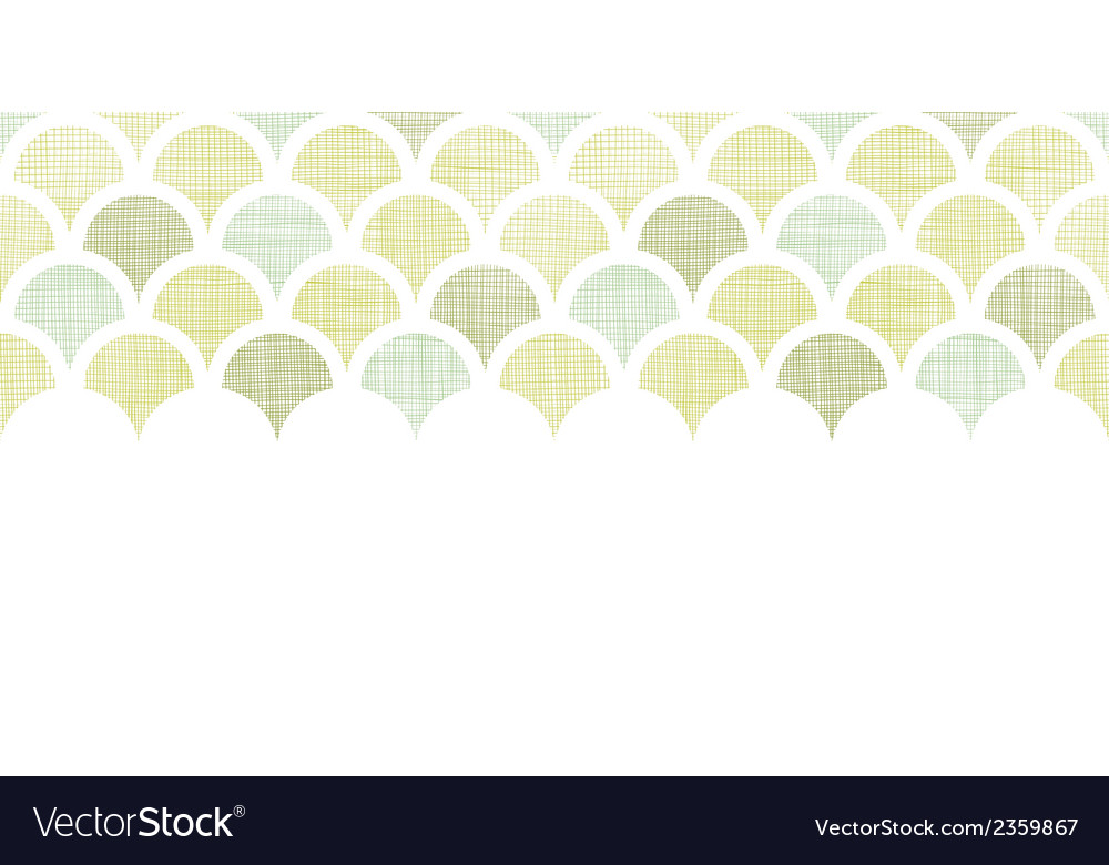 Abstract textile green fishscale horizontal vector | Price: 1 Credit (USD $1)