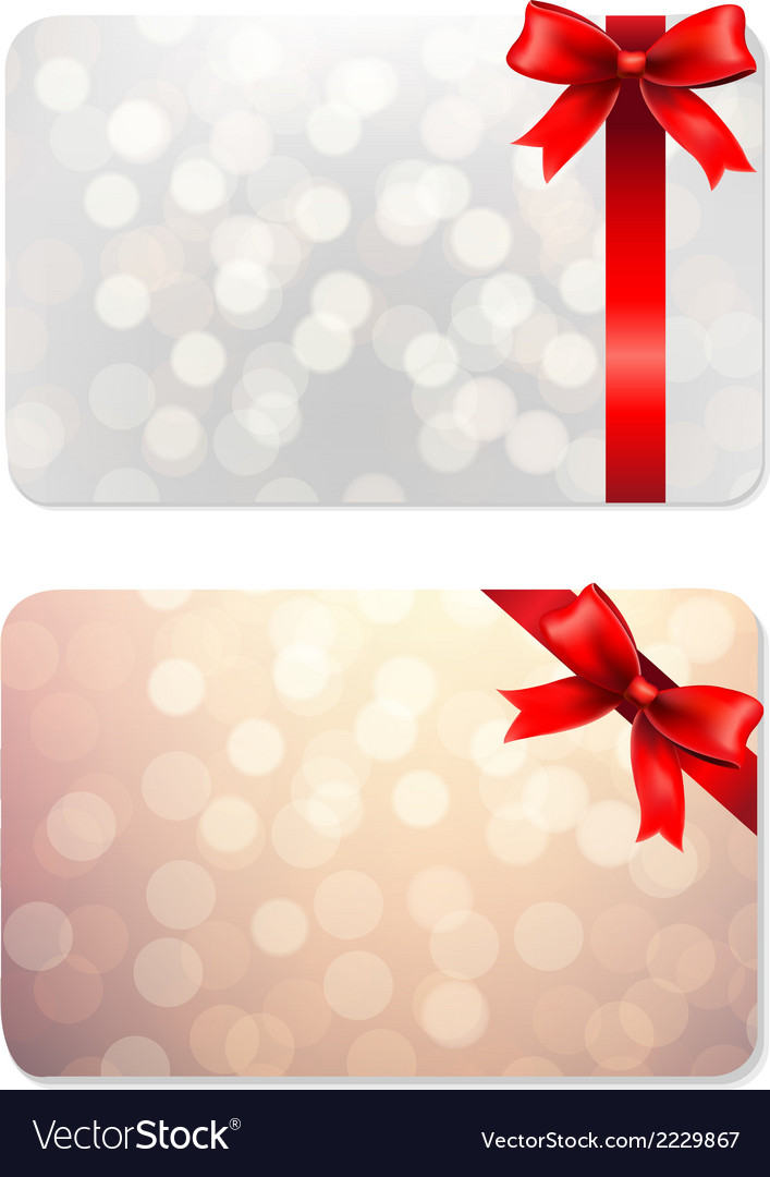 Bows and blank gift tags vector | Price: 1 Credit (USD $1)