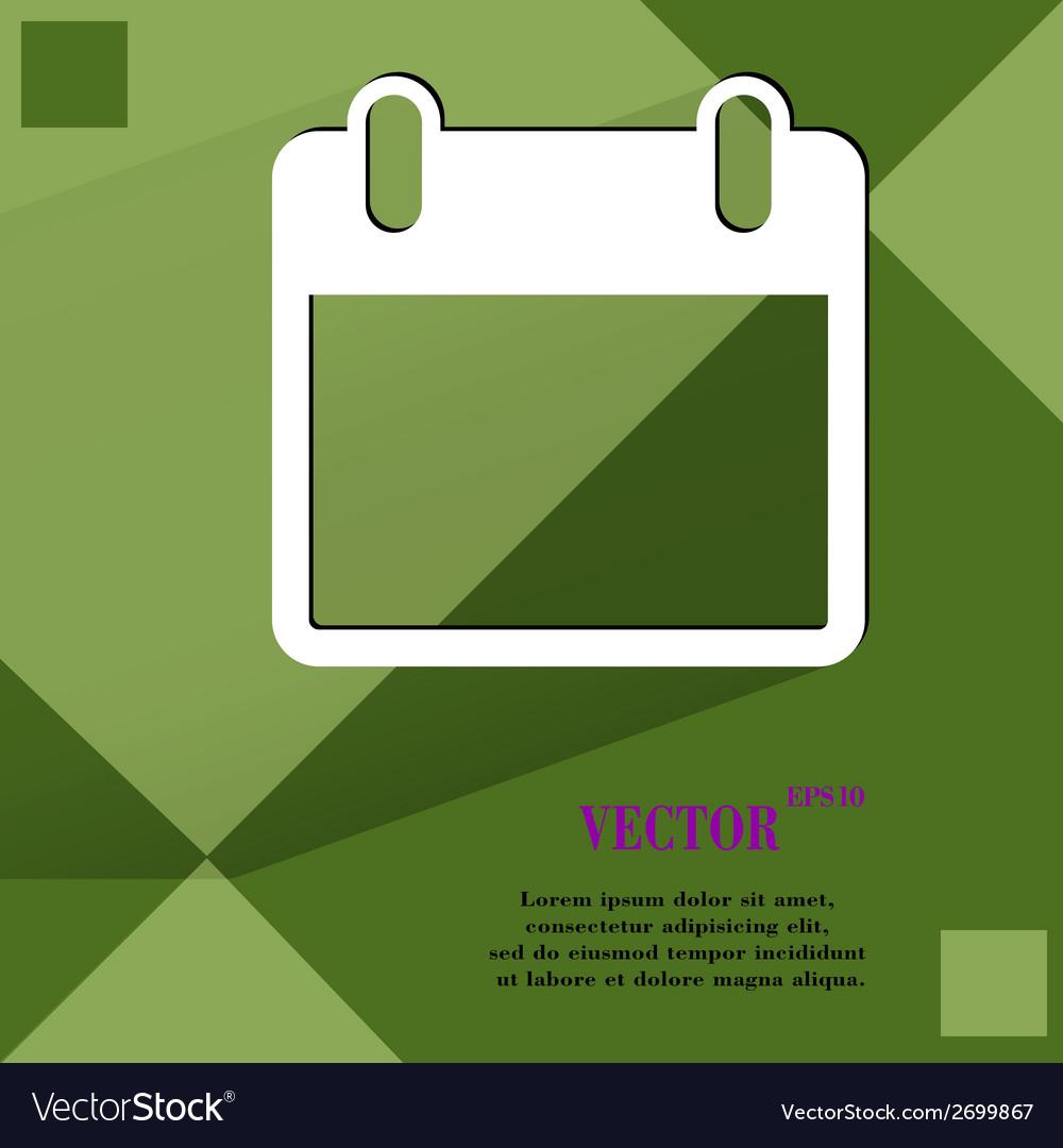 Calendar flat modern web design on a flat vector   Price: 1 Credit (USD $1)