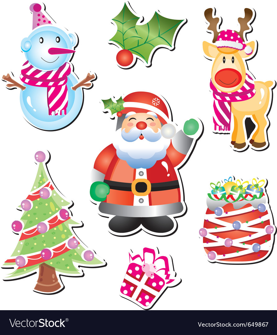 Christmas cartoon collection vector | Price: 3 Credit (USD $3)
