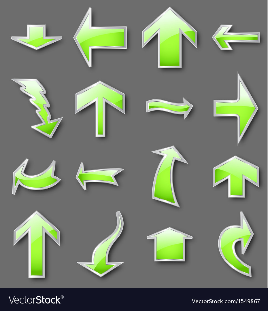 Different green arrows vector | Price: 1 Credit (USD $1)