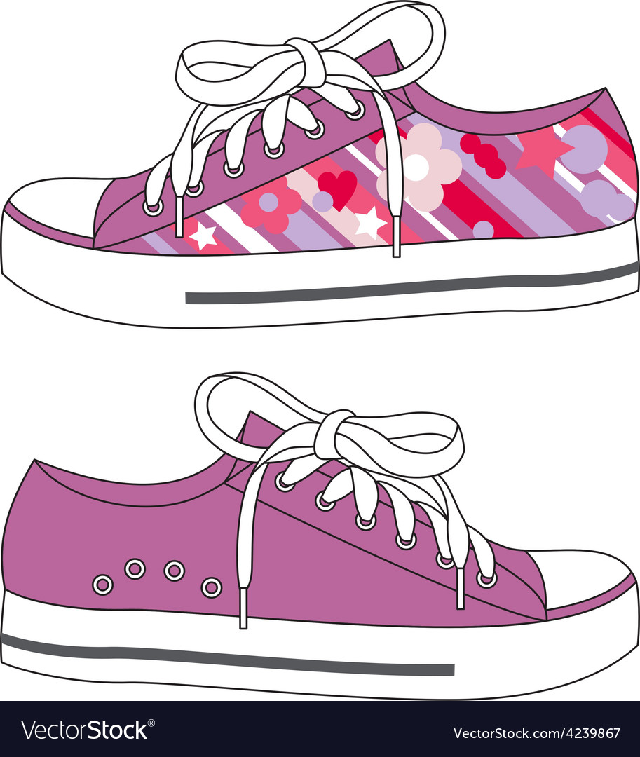 Fashion sneakers vector | Price: 1 Credit (USD $1)