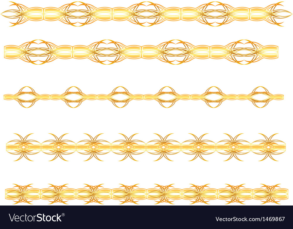 Gold seamless border vector | Price: 1 Credit (USD $1)