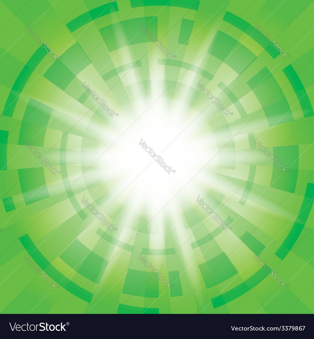 Green abstract background with radial abstractions vector | Price: 1 Credit (USD $1)