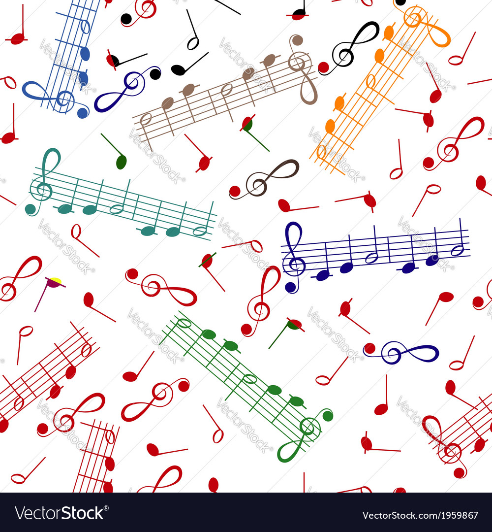Pattern of notes on white background vector | Price: 1 Credit (USD $1)