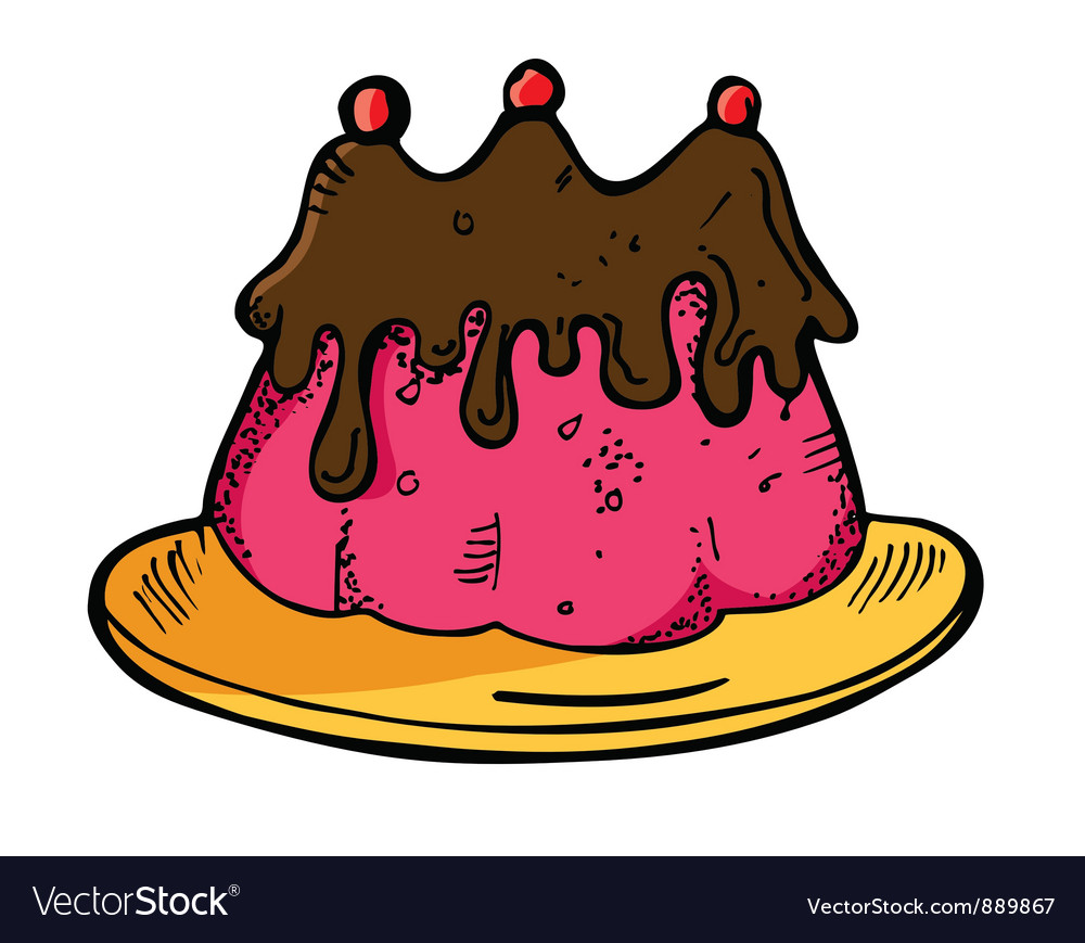 Raspberry cake vector | Price: 1 Credit (USD $1)