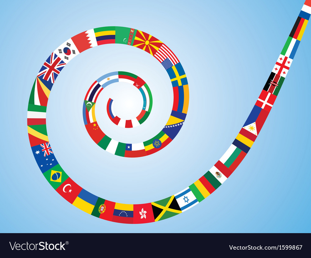 Spiral made of flags vector | Price: 1 Credit (USD $1)