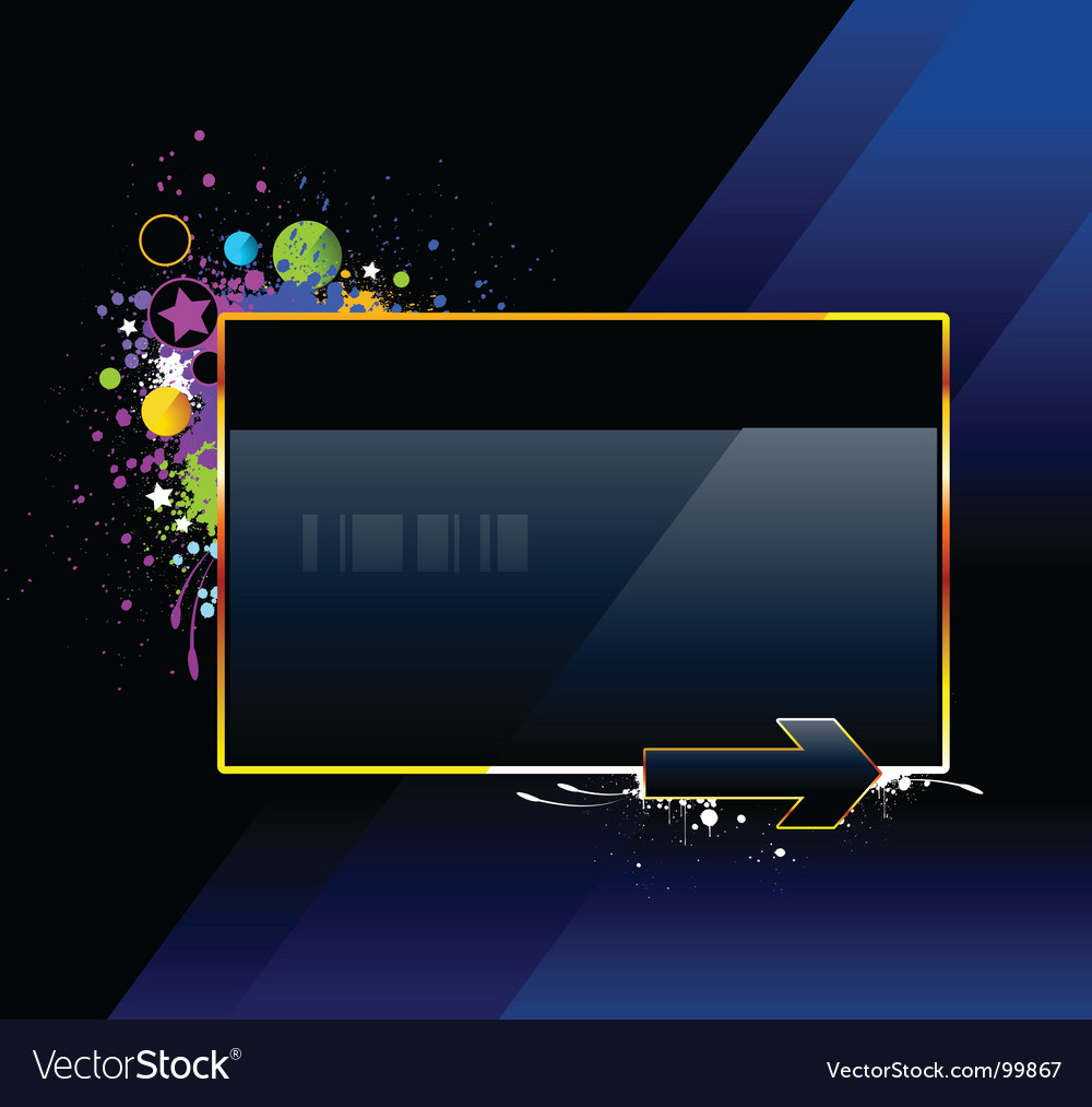 Splash glossy banner vector | Price: 1 Credit (USD $1)