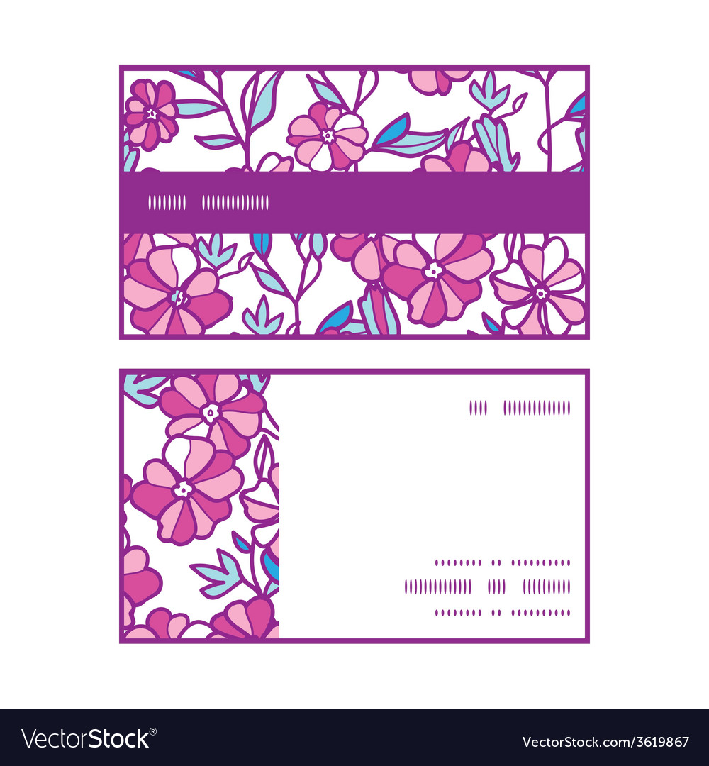 Vibrant field flowers horizontal stripe frame vector | Price: 1 Credit (USD $1)