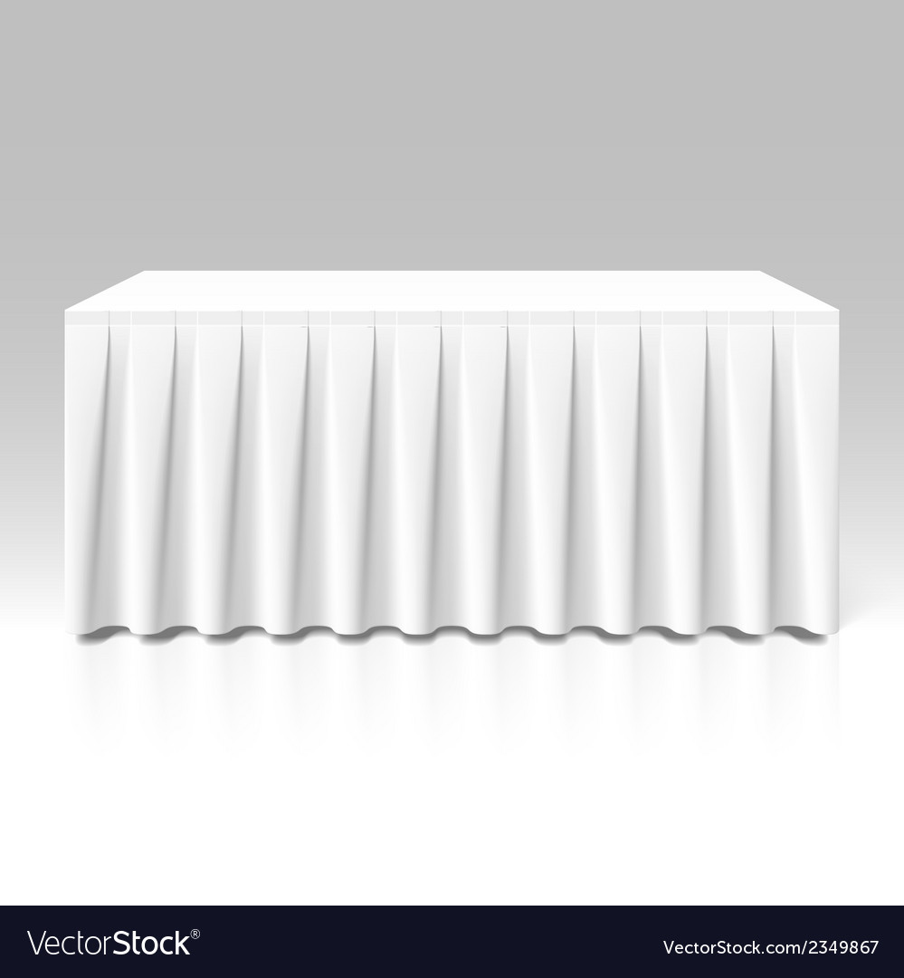 White pleated table-skirting vector | Price: 1 Credit (USD $1)