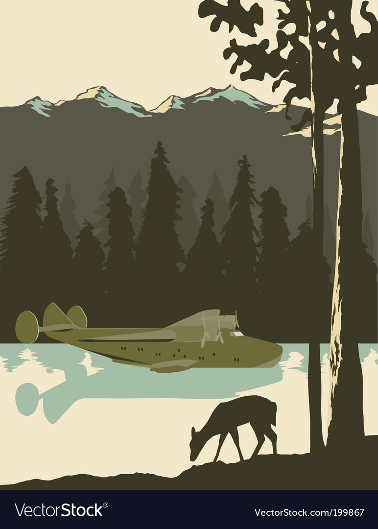 Wilderness poster vector | Price: 1 Credit (USD $1)