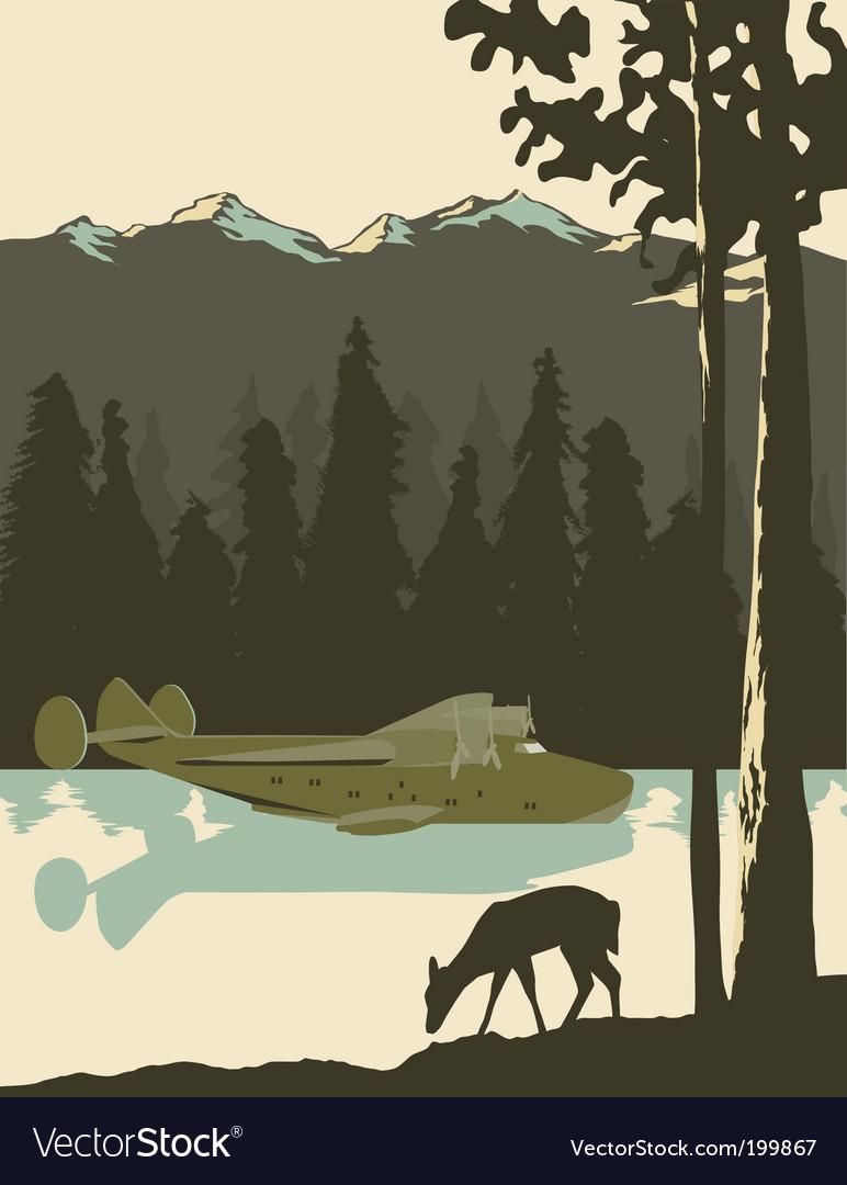 Wilderness poster vector
